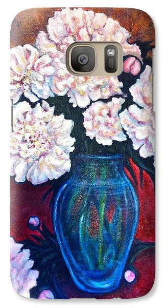 Galaxy Case featuring the painting Peonies by Rae Chichilnitsky