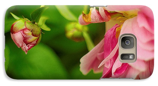 Galaxy Case featuring the photograph Peony Flower With Bud by Suzanne Powers