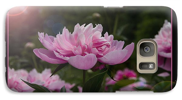 Galaxy Case featuring the photograph Peony Garden Sun Flare by Patti Deters