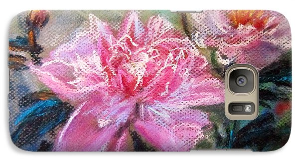 Galaxy Case featuring the painting Peony by Jieming Wang