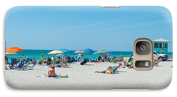 People On The Beach, Venice Beach, Gulf Galaxy S7 Case by Panoramic Images