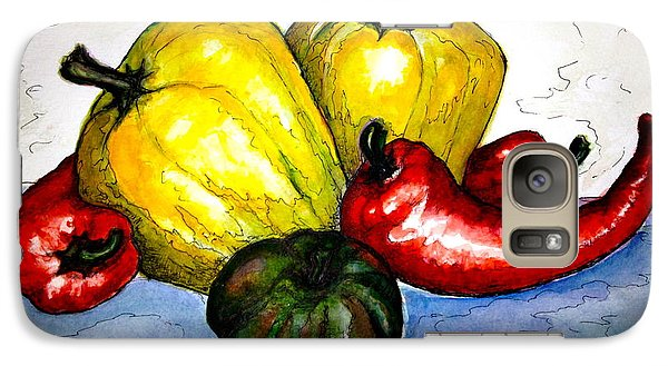 Galaxy Case featuring the painting Pepper Diversity by Rae Chichilnitsky