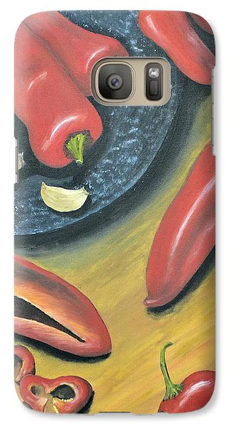 Galaxy Case featuring the painting Peppers by Debbie Baker
