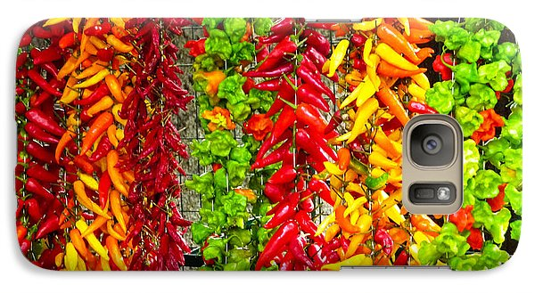 Galaxy Case featuring the photograph Peppers For Sale by Mike Ste Marie