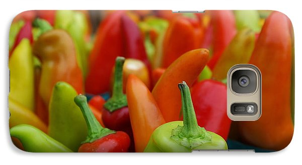 Galaxy Case featuring the photograph Peppers Peppers And More Peppers by John S