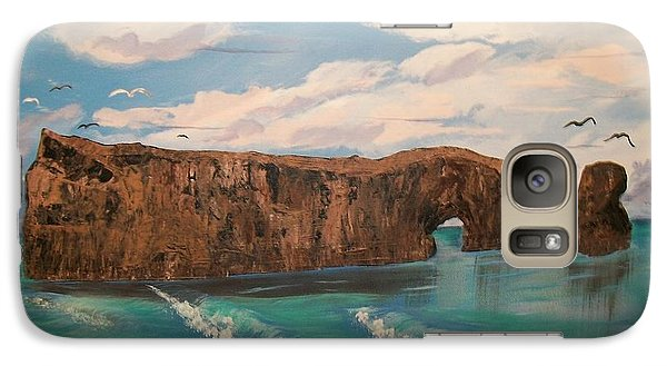Galaxy Case featuring the painting Perce Rock by Sharon Duguay