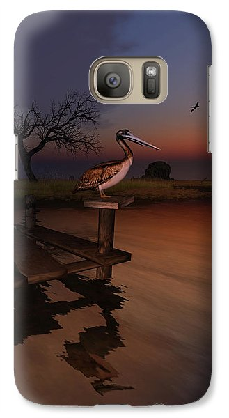 Galaxy Case featuring the digital art Perch With A View by Kylie Sabra