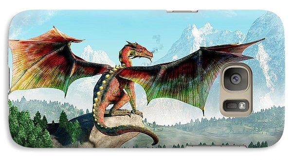 Dungeon Galaxy S7 Case - Perched Dragon by Daniel Eskridge