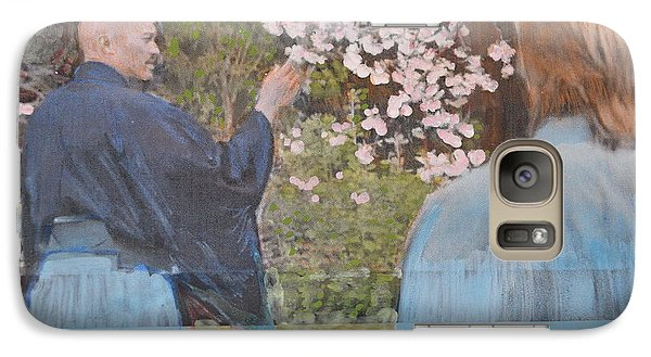 Galaxy Case featuring the painting Perfect Blossom by Vikram Singh