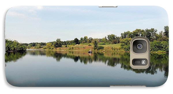 Galaxy Case featuring the photograph Perfect Day On The Lake by Teresa Schomig