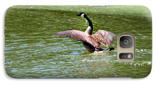 Galaxy Case featuring the photograph Perfect Landing by Kathleen Stephens