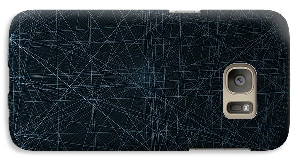 Galaxy Case featuring the drawing Perfect Square by Jason Padgett