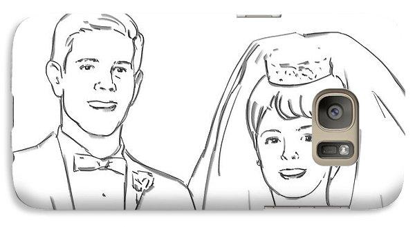 Galaxy Case featuring the drawing Perfect Wedding by Olimpia - Hinamatsuri Barbu