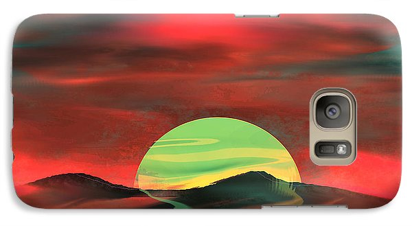 Galaxy Case featuring the painting Perigee Moon by Yul Olaivar