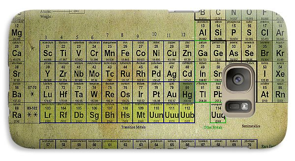 Galaxy Case featuring the mixed media Periodic Table Of Elements by Brian Reaves