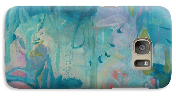 Galaxy Case featuring the painting Peripheral Vision 9 by Elis Cooke