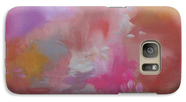 Galaxy Case featuring the painting Peripheral Vision X by Elis Cooke