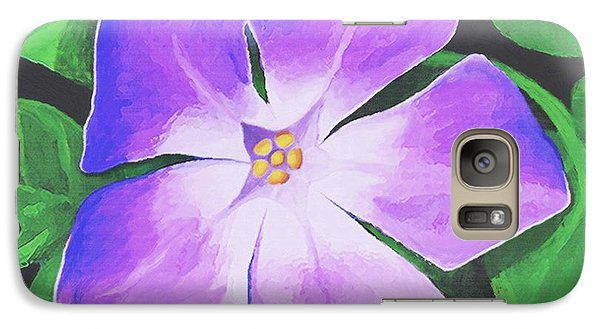Galaxy Case featuring the painting Periwinkle by Sophia Schmierer