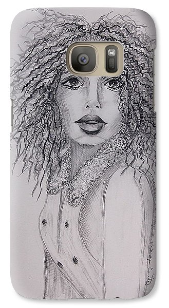 Galaxy Case featuring the painting Perrrfect by Tamyra Crossley