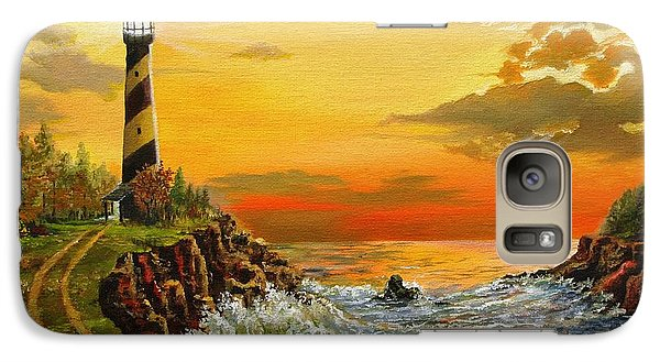 Galaxy Case featuring the painting Perry's Point by Kevin F Heuman