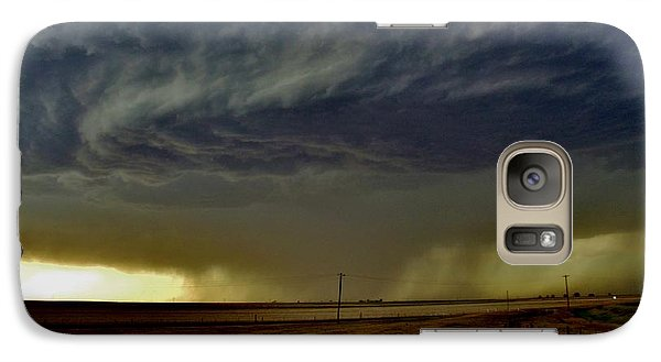 Galaxy Case featuring the photograph Perryton Supercell by Ed Sweeney
