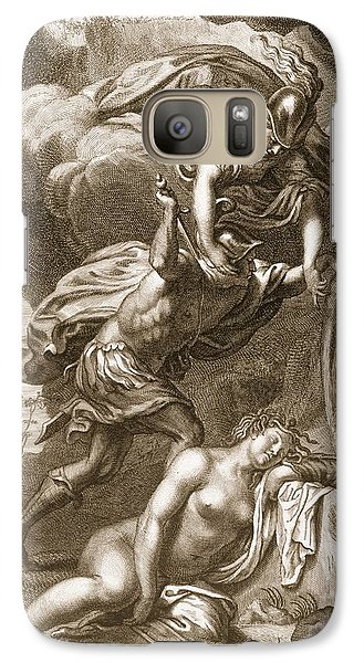 Perseus Cuts Off Medusas Head, 1731 Galaxy S7 Case by Bernard Picart