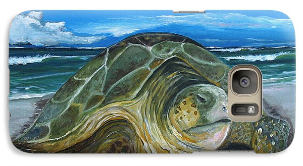 Galaxy Case featuring the painting Perseverance by Dawn Harrell