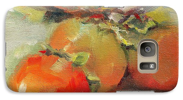 Galaxy Case featuring the painting Persimmons by Michelle Abrams