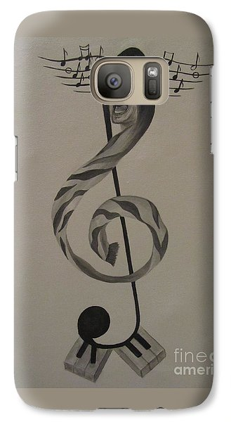 Galaxy Case featuring the painting Personification Of Music by Jeepee Aero