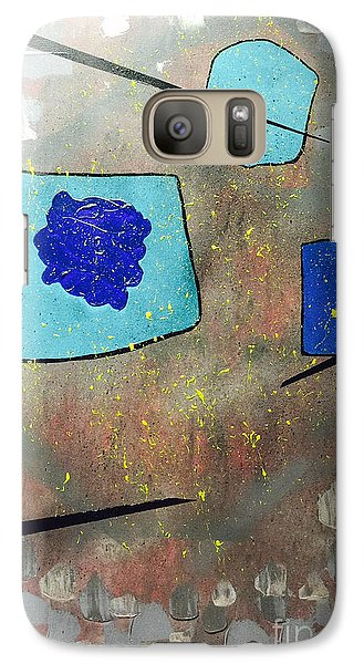 Galaxy Case featuring the painting Perspectives In Blue And Grey by Theresa Kennedy DuPay
