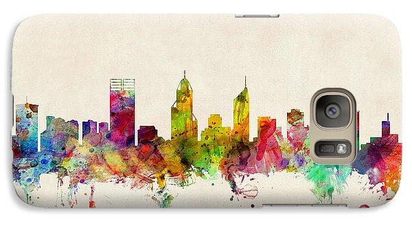 Perth Australia Skyline Galaxy Case by Michael Tompsett