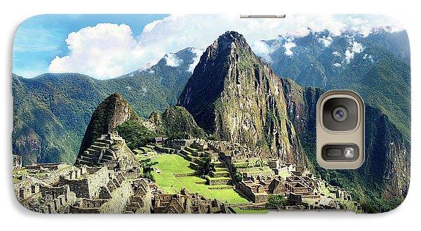 Llama Galaxy S7 Case - Peru, Machu Picchu, The Lost City by Miva Stock