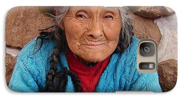 Galaxy Case featuring the photograph Peruvian Beauty by Ramona Johnston