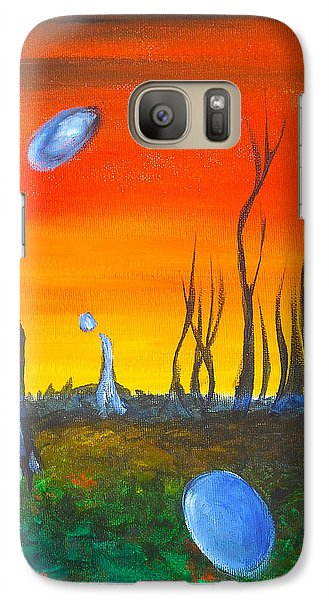 Galaxy Case featuring the painting Pervasive Longings by Christophe Ennis