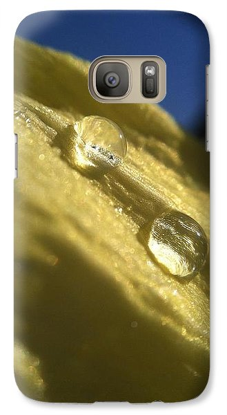 Galaxy Case featuring the photograph Petal Drops by Nikki McInnes