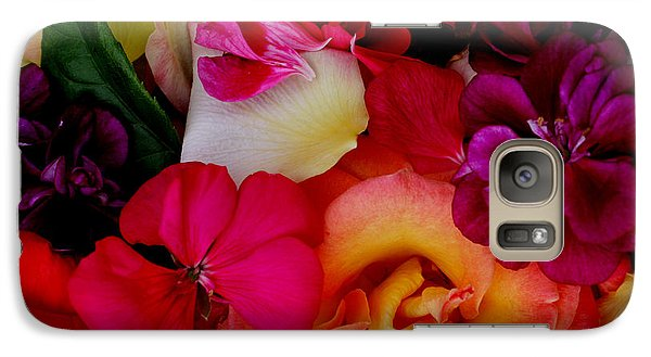 Galaxy Case featuring the photograph Petal River by Jeanette French