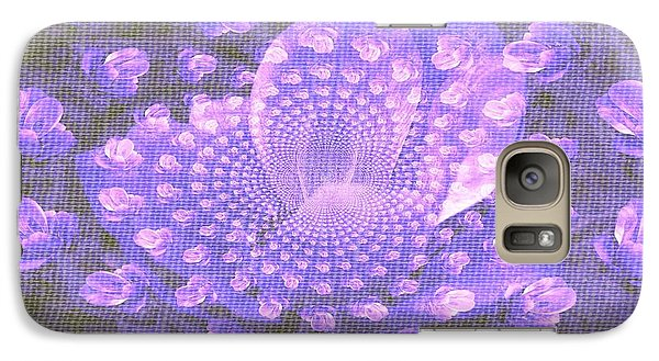 Galaxy Case featuring the photograph Petals Down The Rabbit Whole by Amanda Eberly-Kudamik