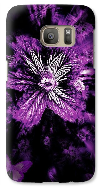 Galaxy Case featuring the photograph Petals From The Purple by Amanda Eberly-Kudamik