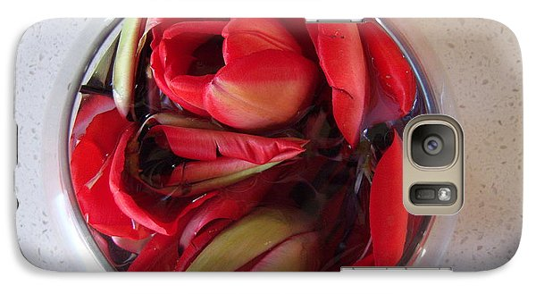 Galaxy Case featuring the photograph Petals In Vase  by Conor Murphy