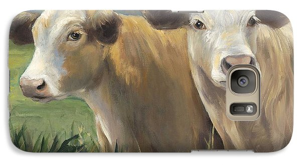 Galaxy Case featuring the painting Pete And Repete by Cheri Wollenberg