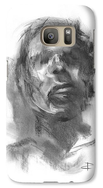 Galaxy Case featuring the drawing Pete by Paul Davenport
