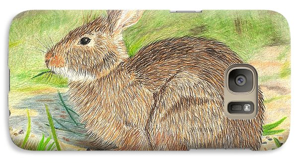 Galaxy Case featuring the drawing Peter Cottontail by Sheila Byers