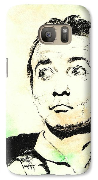Galaxy Case featuring the mixed media Peter Venkman by Andrew Gillette