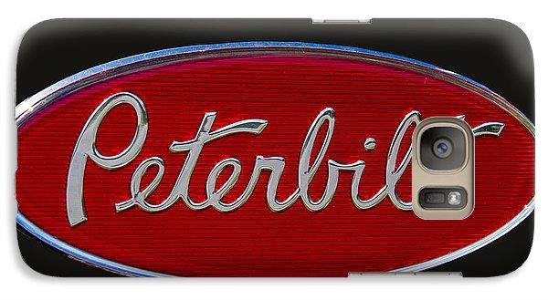 Truck Galaxy S7 Case - Peterbilt Semi Truck Emblem by Nick Gray