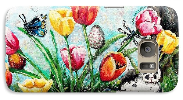 Galaxy Case featuring the painting Peters Easter Garden by Shana Rowe Jackson