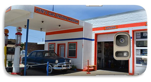 Galaxy Case featuring the photograph Pete's Gas Station by Utopia Concepts