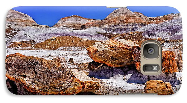 Galaxy Case featuring the photograph Petrified Forest - Painted Desert by Bob and Nadine Johnston