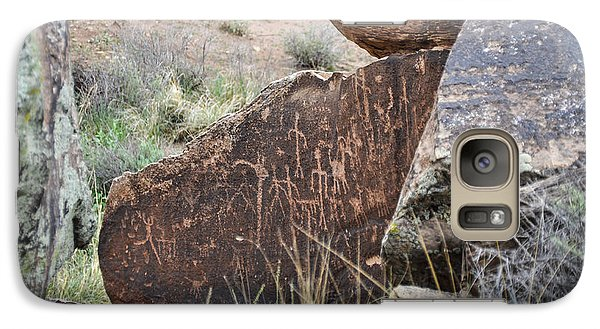 Galaxy Case featuring the photograph Petroglyph Art by Cheryl McClure