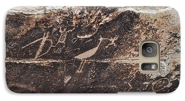 Galaxy Case featuring the photograph Petroglyph Bird by Cheryl McClure