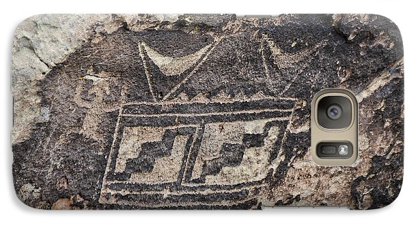 Galaxy Case featuring the photograph Petroglyph Design by Cheryl McClure